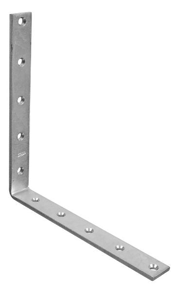 "National Hardware® N220-186 Corner Iron, 10"" x 1-1/4"", Zinc Plated"