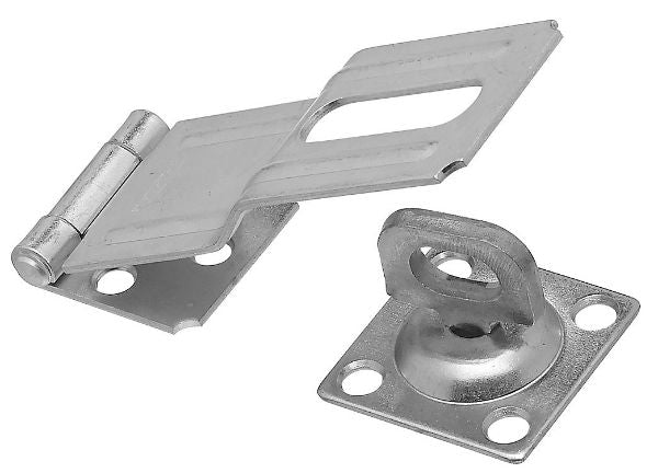 "National Hardware® N102-921 Swivel Safety Hasp, 4-1/2"", Zinc Plated"
