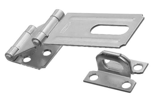 "National Hardware® N103-259 Double Hinge Safety Hasp, 3-1/4"", Zinc"