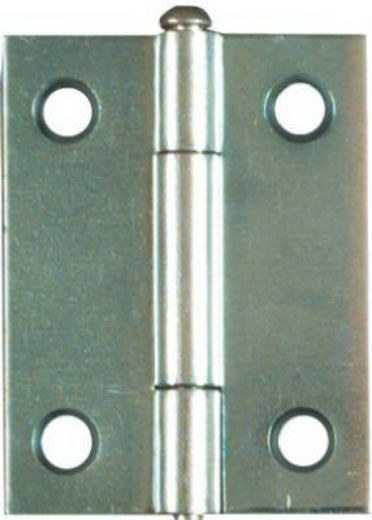 National Hardware® N141-838 Light Narrow Hinge with Screws, Zinc, 2-Pack