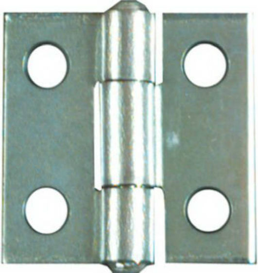 "National Hardware® N145-920 Non-Removable Pin Hinge, 1""x1"", Zinc 2-Pack"