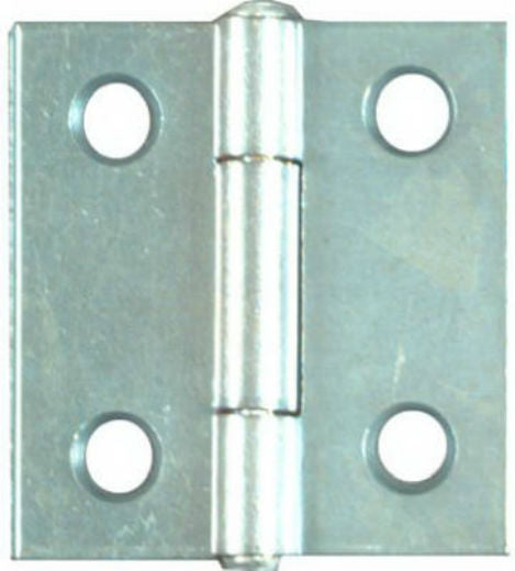 "National Hardware® N146-043 Light Narrow Hinge, 1.5""x1-7/16"", Zinc, 2-Pack"