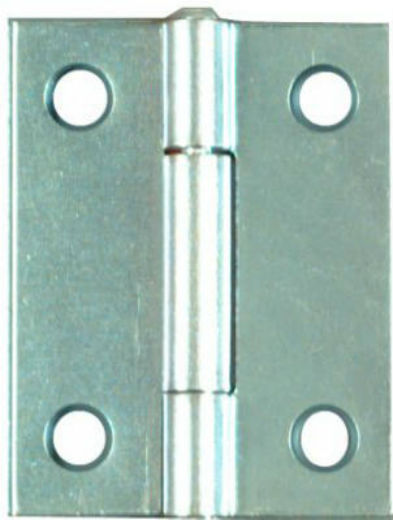 "National Hardware® N146-159 Light Narrow Hinge, 2""x1-9/16"", Zinc, 2-Pack"