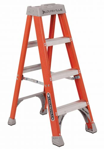 Louisville Ladder FS1504 Fiberglass Standard Type 1A Step Ladder, 4'