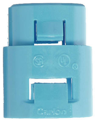 Carlon A253D-CAR ENT Blue Smurf Terminator Adapter, 1/2""
