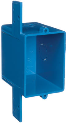 Carlon ENT Quick Connect Blue Smurf Switch & Outlet Box, Single Gang