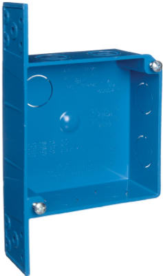 Carlon ENT Quick Connect Blue Smurf Switch & Outlet Box, 2 Gang