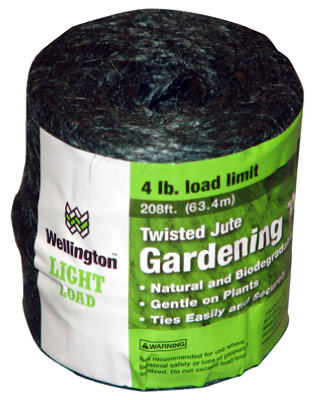 Wellington 14258 Twisted Jute 3-Ply Household Twine, 208'