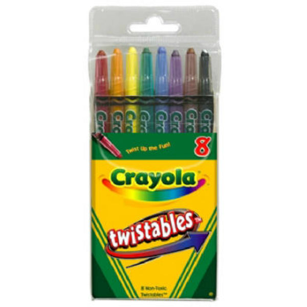 Crayola 52-7408 Twistable Crayons, 8-Count