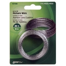 Hillman Fasteners 121106 Braided Picture Hanging Wire, #2 x 25'