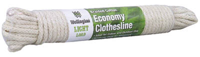 "Wellington 10708 Synthetic Core Clothesline, 3/16"" x 50'"