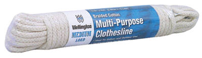 "Wellington 10711 Eclipse Cotton Synthetic Core Clothsline, 7/32"" x 50'"