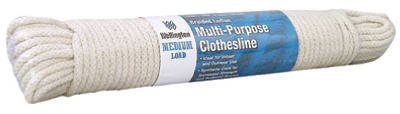 "Wellington 10712 Eclipse Solid Braided Cotton Clothesline, 7/32"" x 100'"