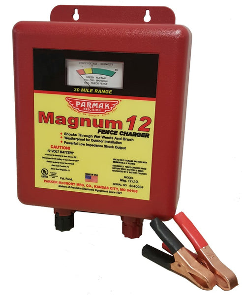 Parmak MAG12UO Magnum 12UO Battery-Operated Low Impedance Fence Charger, 12V