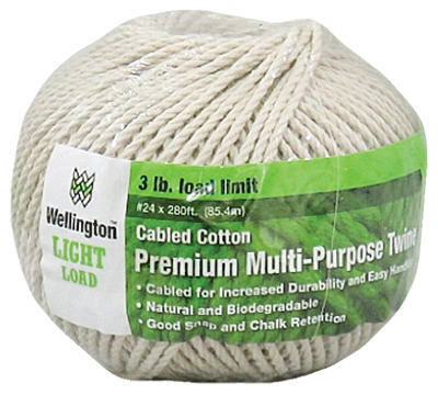 Wellington 10334 Puritan Natural Cotton Cable Cord, #24 x 280'