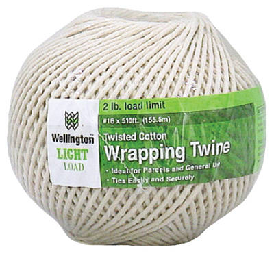 Wellington 12771 Natural Wrapping Cotton Twine, #16 x 510'