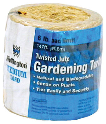 Wellington 14256 Twisted Jute 4-Ply Household Twine, 147'