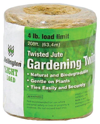 Wellington 14255 Twisted Household Jute Twine, #24 x 208'