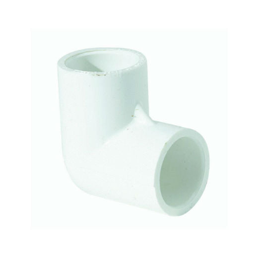 "Genova 30705 Elbow 90-Degree, Slip x Slip, 1/2"", White"