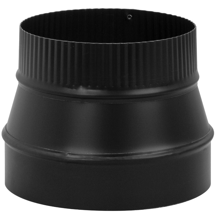 "Imperial BM0079 Flue Reducer, 24 Gauge, 8"" x 6"", Black"