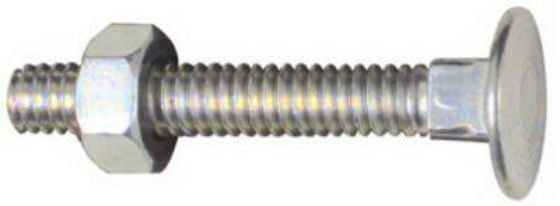 "National Hardware® N280-859 Flat Head Carriage Bolts & Nuts 1/4""-20x1-3/4"", 12-Pack"