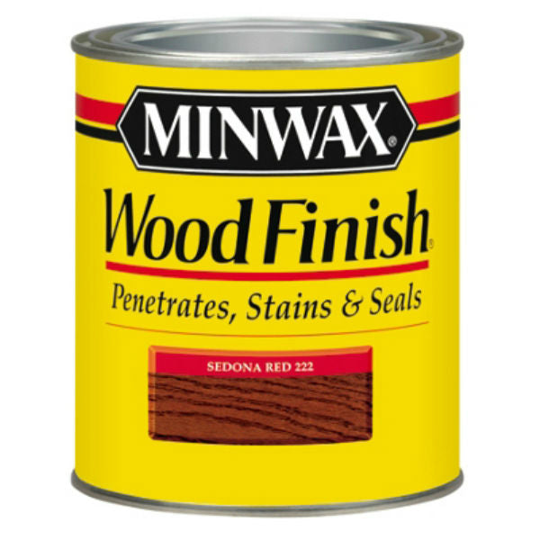 Minwax® 222204444 Wood Finish™ Penetrating Wood Stain, Sedona Red (222), 1/2 Pt