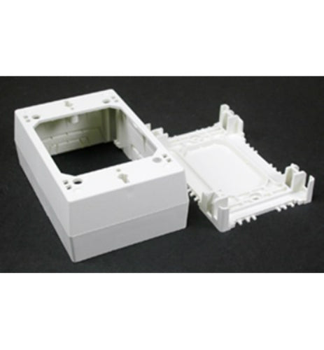 Wiremold® NMW35 Raceway Extra Deep Switch/Outlet Box, Plastic, White