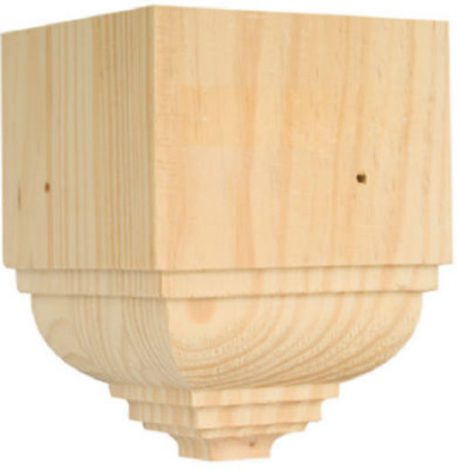 Waddell OCTB-31 Outside Crown Trim Pine Block Moulding, Easy-To-Install