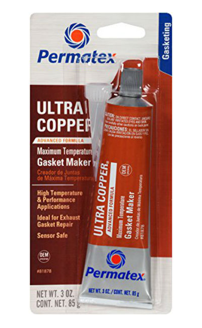 Permatex® 81878 Ultra Copper® Maximum Temperature RTV Silicone Gasket Maker, 3 Oz