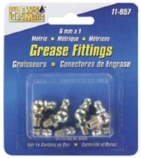 Plews LubriMatic™ 11-957 Metric Grease Fitting, Assorted, 8-Pack