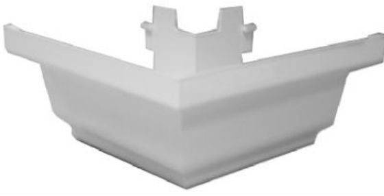 Genova AW103BK Repla K Outside 90-Degree Gutter Corner, White