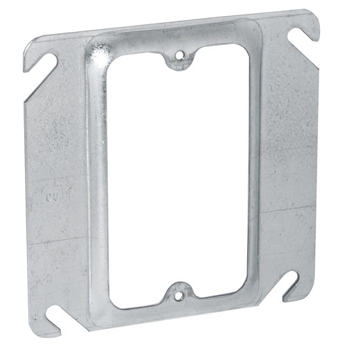 RACO® 8768 Square Single Device Cover, Steel, 4""