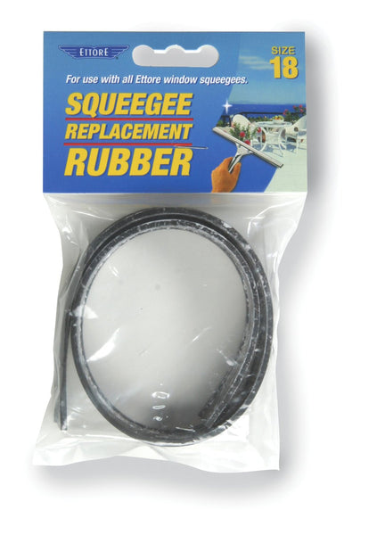 Ettore® 20018 Squeegee Replacement Rubber, For Sizes Up To 18""