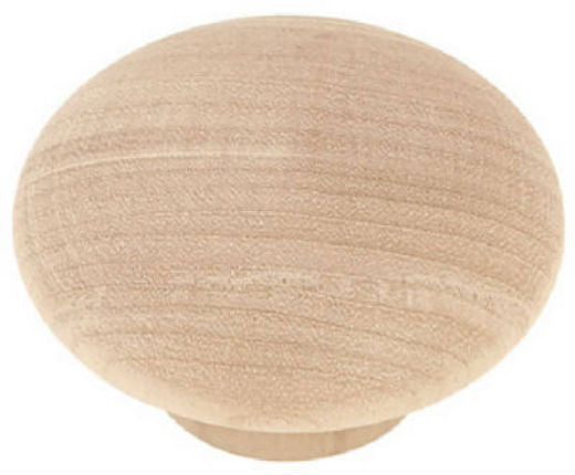 "Brainerd® P10514V-BIR-C7 Round Wood Calton Knob, 1-3/4"", White Birch"