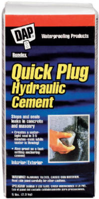 Dap® 14084 Quick Plug® Hydraulic & Anchoring Cement, 2.5 Lbs, Gray