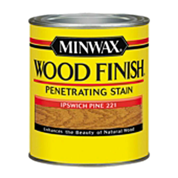 Minwax® 222104444 Wood Finish™ Penetrating Wood Stain, Ipswich Pine (221), 1/2 Pt