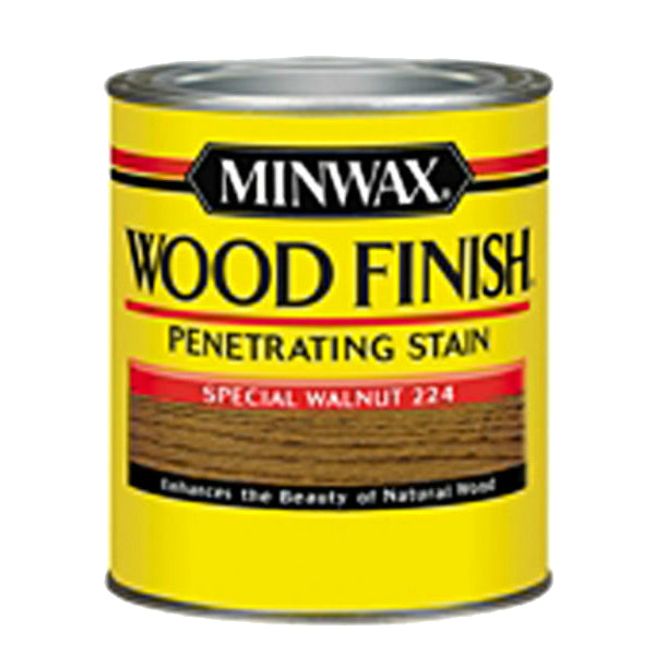 Minwax® 222404444 Wood Finish™ Penetrating Wood Stain, Special Walnut (224), 1/2 Pt