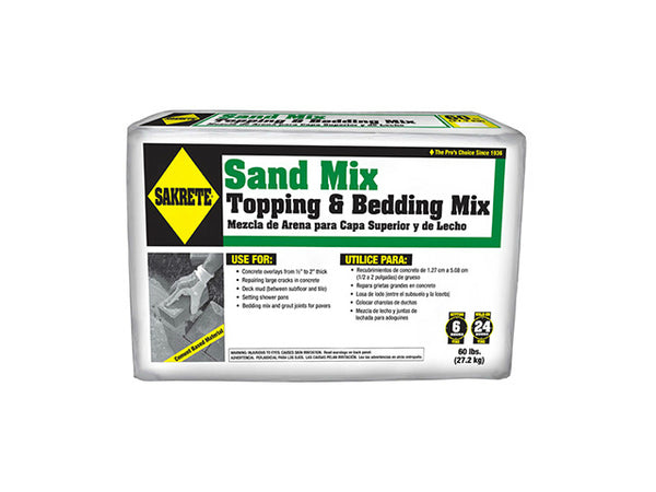 Sakrete® 65306217 Topping & Bedding Sand Mix, 60 Lb