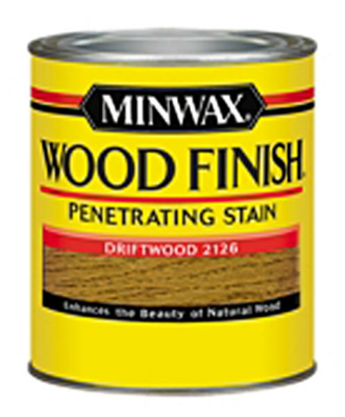 Minwax® 221264444 Wood Finish™ Penetrating Wood Stain, Driftwood (2126), 1/2 Pt
