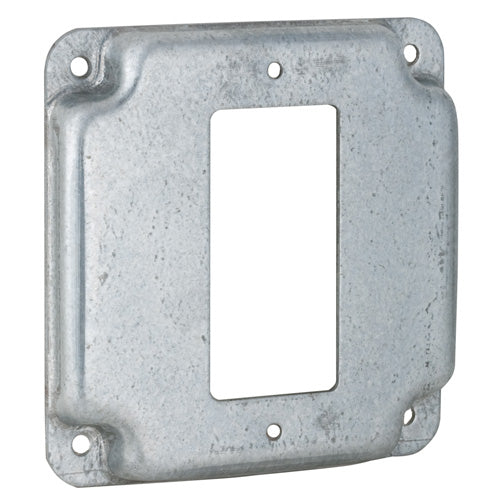 RACO® 808C Single Ground Fault Interrupter Receptacle Box Cover, 4""