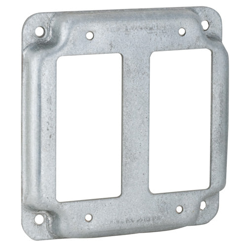 RACO® 809C Double Ground Fault Interrupter Receptacle Box Cover, 4""