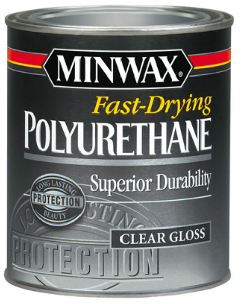 Minwax® 63000 Fast-Drying Polyurethane Oil-Based Gloss Finish, Clear, 1 Qt