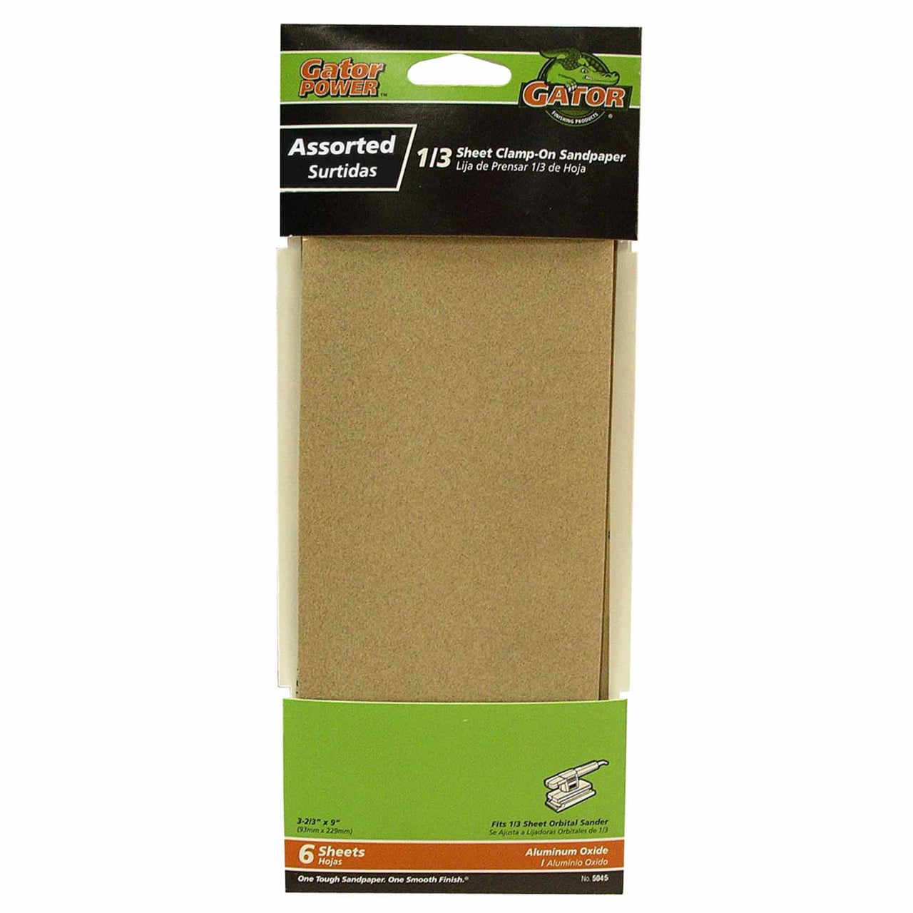 "Gator 5045 Multi-Purpose Sandpaper, Assorted Grits, 3-2/3"" x 9"""