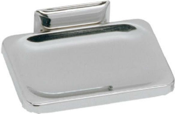 Decko 38000 Wall Soap Dish w/ Mounting Hardware, Chrome Finish, Steel