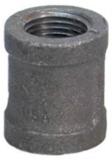 "Anvil® 8700133104 Malleable Coupling, 1/2"", Black Finish"