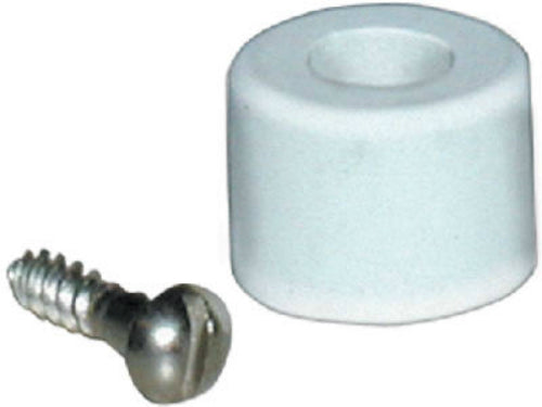 Lavelle® 757-2 Recess Screw Bumper, White
