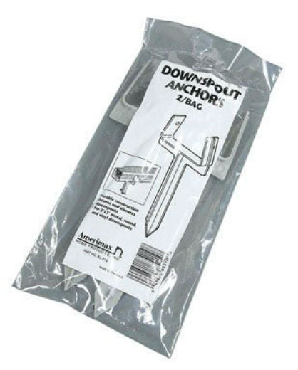 Amerimax 85210 Downspout Anchor, 2-Pack