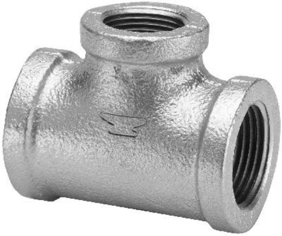 "Anvil® 8700123352 Galvanized Reducing Tee, 1-1/2"" x 1-1/4"""