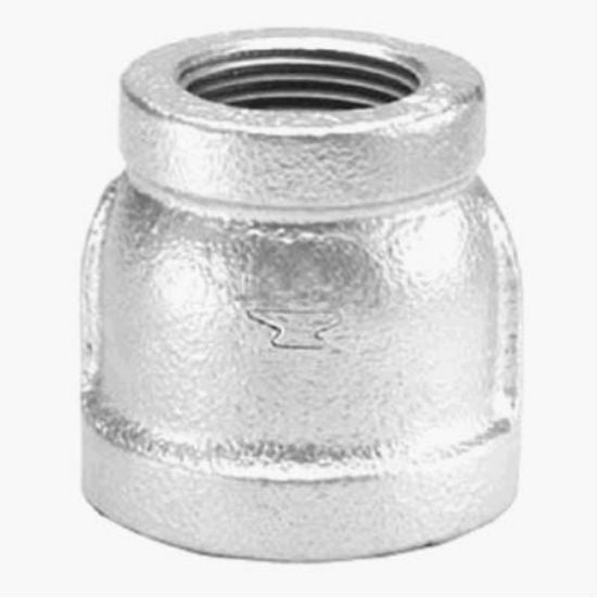 "Anvil® 8700135851 Reducing Coupling, 2"" x 1-1/2"", Galvanized"