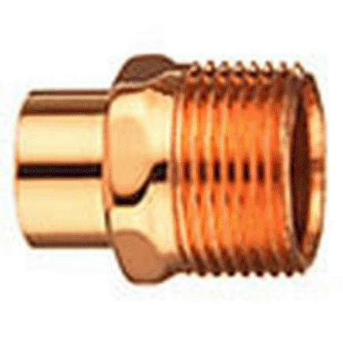 Elkhart 30304 Reducing Male Adapter, 3/8'' x 1/2'', Wrot Copper